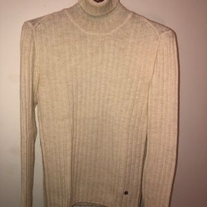 Men's Gucci Wool Alpaca Ribbed Turtleneck Sweater